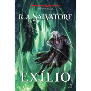 capa do volume 2: Exílio, romances de D&D de R. A. Salvatore